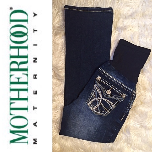60% off Motherhood Maternity Denim - 🌺WALLFLOWER Maternity Jeans ...
