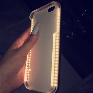 lumee two iphone 7 6s 6 selfie light case gold