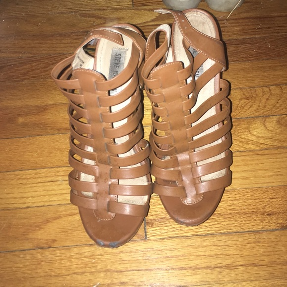 ca05f06120c Steve Madden Brown Chunky Heel Sandals