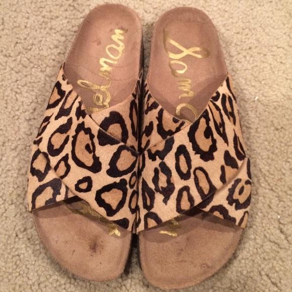 d6197adeb01e5 Sam Edelman Birkenstock style leopard sandals. M 56f2f3c34e8d17b98800a1a6