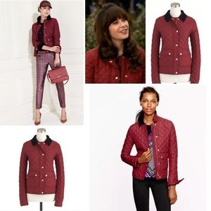 Reasonable offers ok Jcrew burgundy quilted jacket