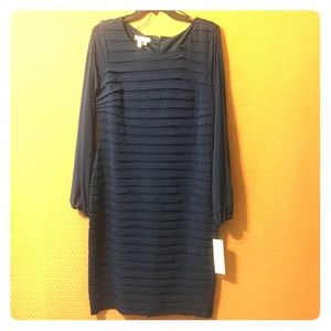 NWT Deep Blue Fitted Dress by London Times