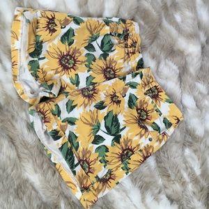 pacsun sunflower high waisted shorts