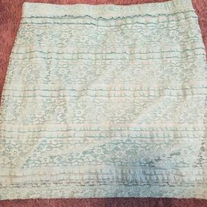 Mint lace skirt