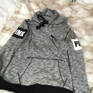 pink/Victoria's Secret grey hoodie