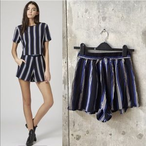 Topshop Pants - Topshop blue stripe shorts