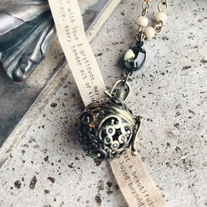Cultiverre Jewelry - prayer ball necklace