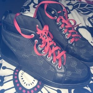 Black Sneakers With Red Laces   Poshmark