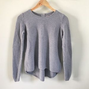 Banana Republic gray cotton sweater zipper back