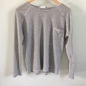 Zara long sleeve striped tee