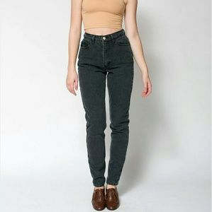 black american apparel high waist jeans on Poshmark