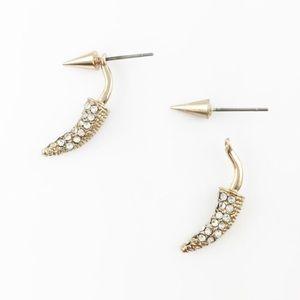 Adia Kibur Jewelry - Adia Kibur 🌙 Crystal Horn & Spike Ear Jacket