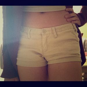 Tan Short Shorts from Abercrombie & Fitch