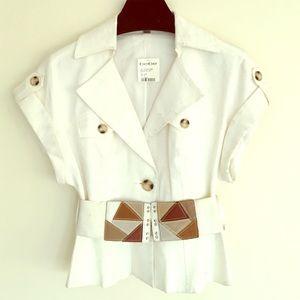 New Bebe kimono peplum jacket