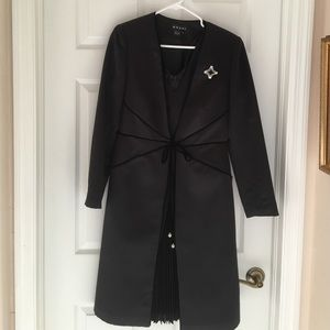 Shani Dresses & Skirts - Shani designer black dress and coat set 8