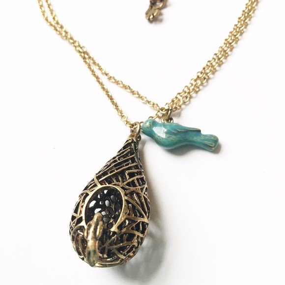 Lucky brand jewelry bird nest pendant poshmark lucky brand bird nest pendant aloadofball Choice Image