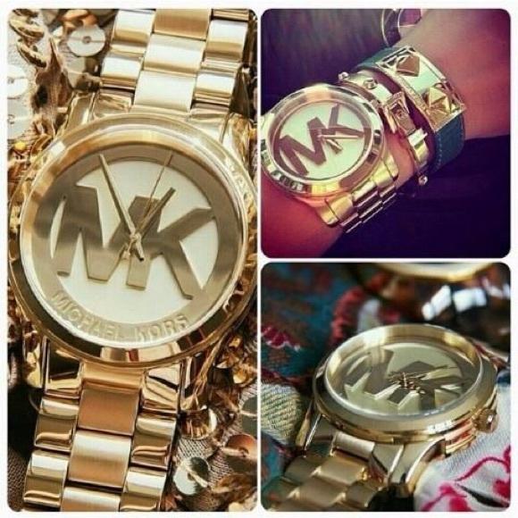 74474030e137 MICHAEL KORS Runway Gold Champagne Watch MK5473
