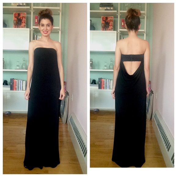 Rachel Zoe Dresses   Black Strapless Dress With Open Back   Poshmark