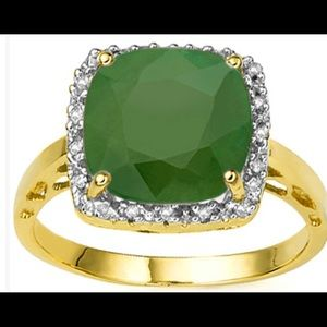 Jewelry - Created Emerald and Diamond Ring