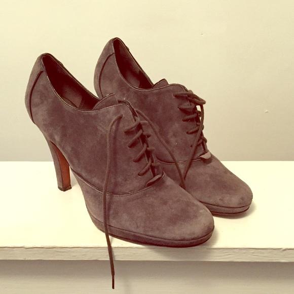 89e48018e52 Circa Joan and David Shoes - Circa Suede Grey Oxford Heel