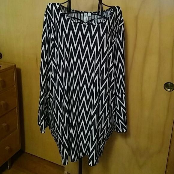 Tacera Dresses Plus Size Dress With Chevron Print Poshmark