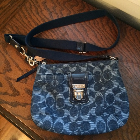a7a9bf74d3 Coach Handbags - Coach Denim Crossbody Purse