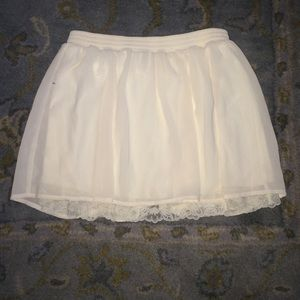 FOREVER 21 skirt Cream Colored