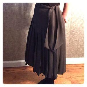 J. Crew Dresses & Skirts - Jcrew Pleated silk grey skirt