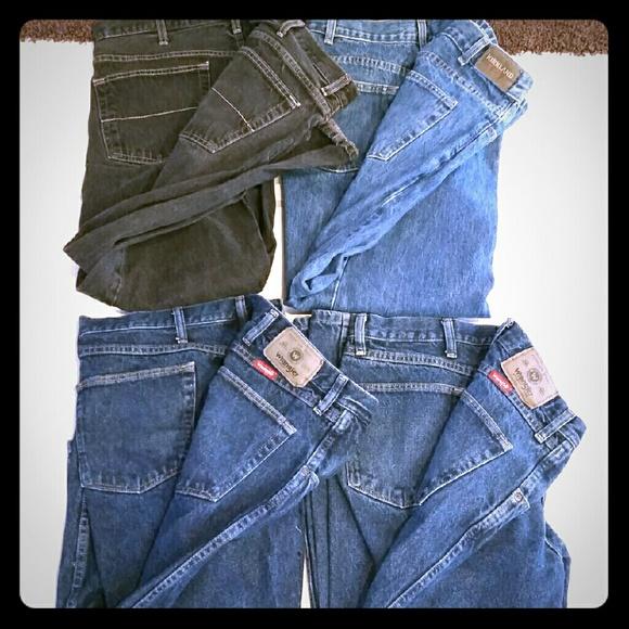 79% off Wrangler Other - 4 Pair Wrangler & Kirkland Mens Jeans 40 ...