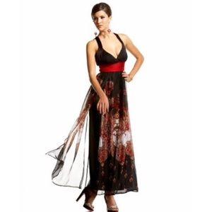 Bebe silk maxi dress