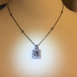 Diamond white/black enchanted  necklace 👄 20 in