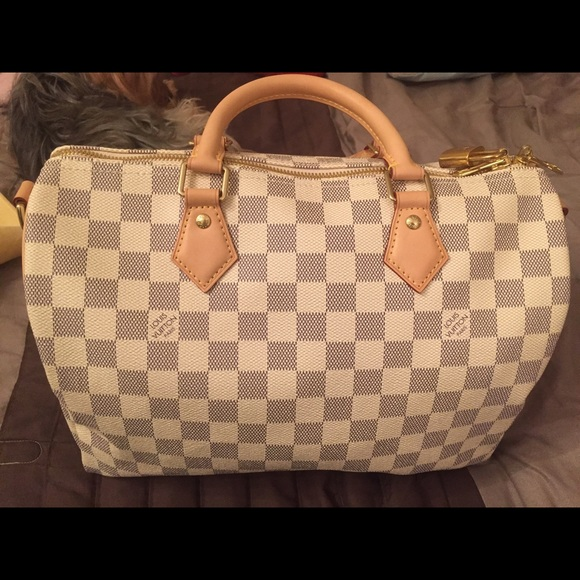7ebb737d7a04 Louis Vuitton Handbags - Damier Azur Louis Vuitton Speedy 30 Bandouliere