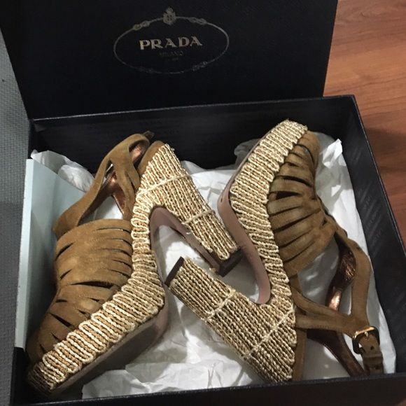 prada original bags sale - 87% off Prada Shoes - Prada chunky heels, authentic ?SALE from ...
