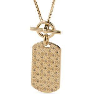 MICHAEL Michael Kors Jewelry - NWT✨ Michael Kors Logo Dog Tag Toggle Necklace