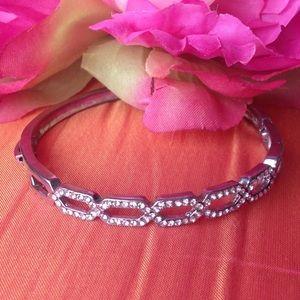 Bebe rhinestone bangle bracelet