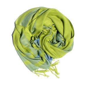 Ketzali Other - Ketzali Lime and light blue Scarf Wrap or Sarong