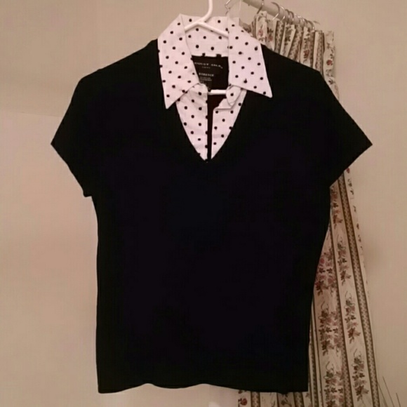 August Silk Sweaters August Silk 2in1 Sweater Blouse Combo Poshmark