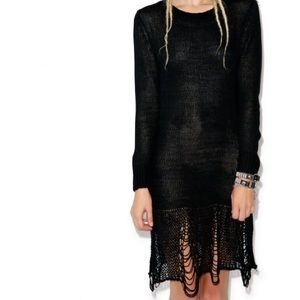 UNIF Dresses & Skirts - UNIF Loose String Sweater Dress