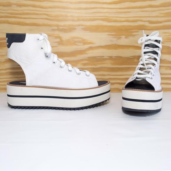 Adidas Platform Cutout Peep Toe Ankle