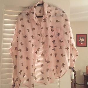 Pink dancing bear blouse