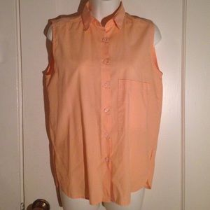 Vintage Diane Von Furstenberg Sleeveless Button Up