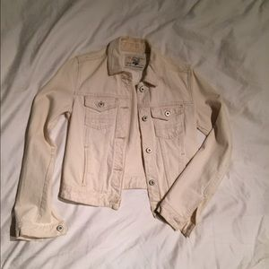 Zara white jean jacket