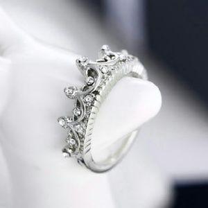 👑Sterling Crown Ring - Size 7