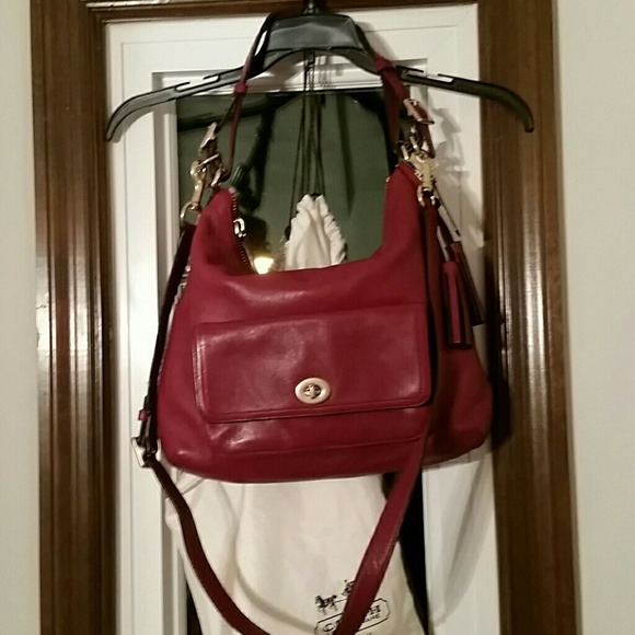 77% off Coach Handbags - Coach cherry red handbag from Christy's ...