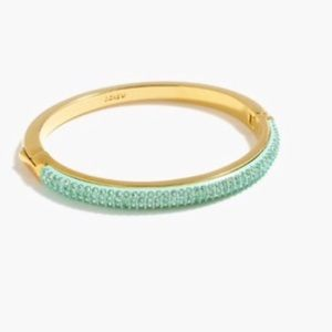 J. Crew Jewelry - Rounded pave hinge bracelet