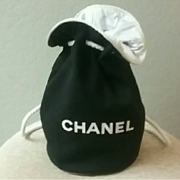 enjoy big discount huge inventory where can i buy Chanel canvas drawstring bag NWT