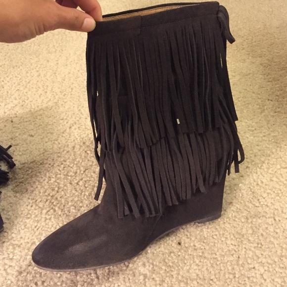 43% off Ralph Lauren Shoes - Dark brown fringe boots from Jax's ...