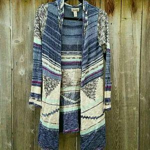 Aztec Blue Tribal Cardigan