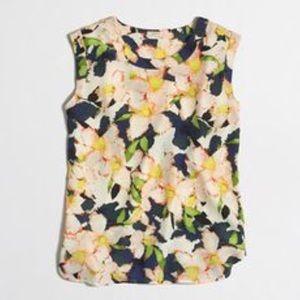 J. Crew Drapey Sleeveless Floral Top