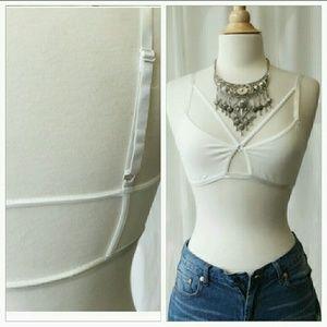 April Spirit Other - White strappy bra